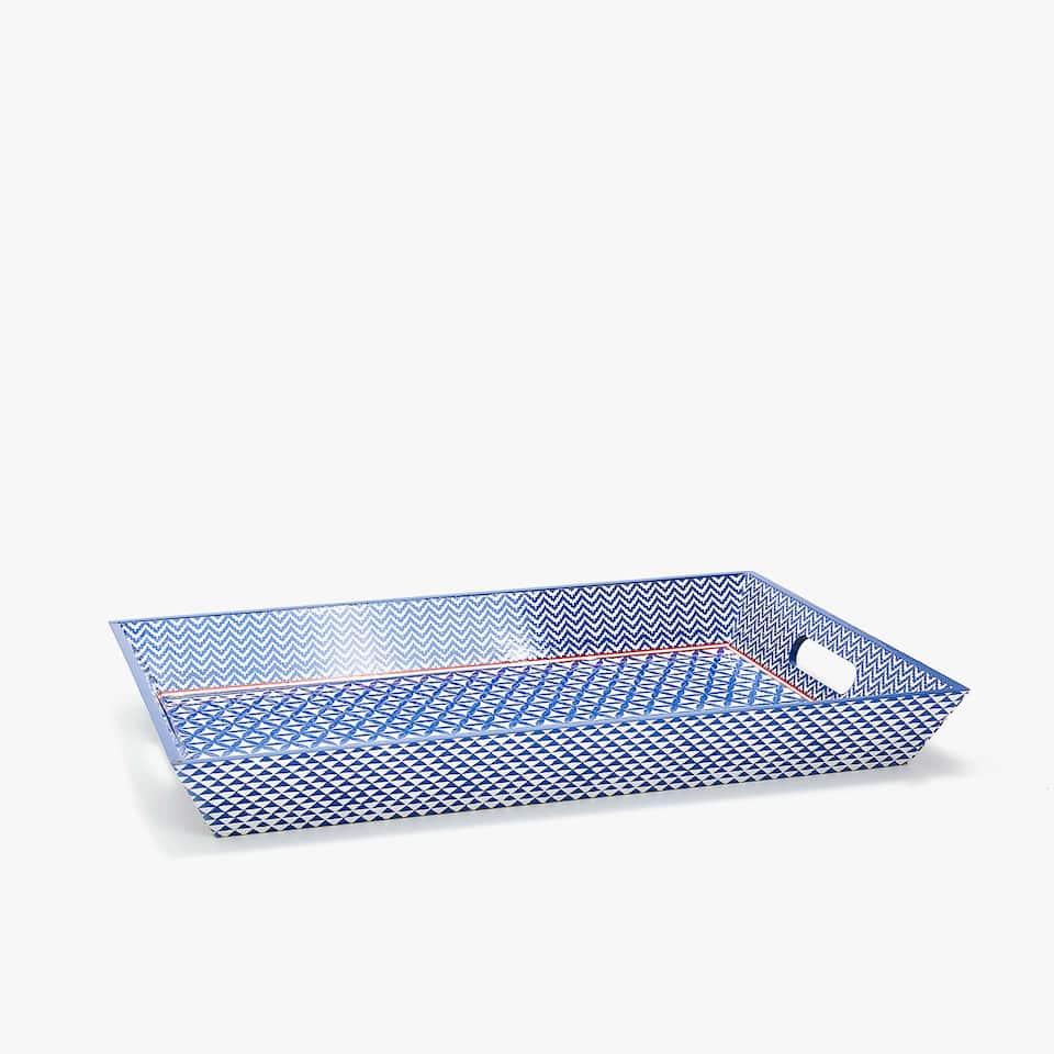 FLORAL PRINT RECTANGULAR TRAY