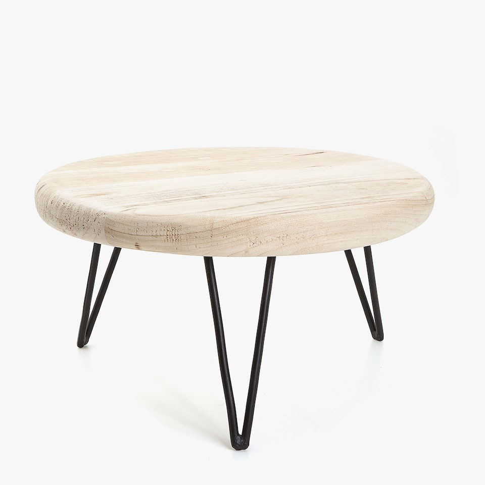 SIDE TABLE WITH BLACK LEGS