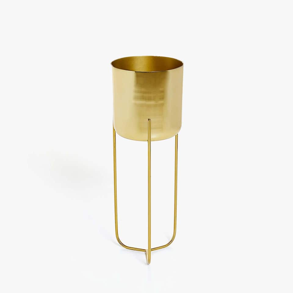 GOLDEN PLANT POT