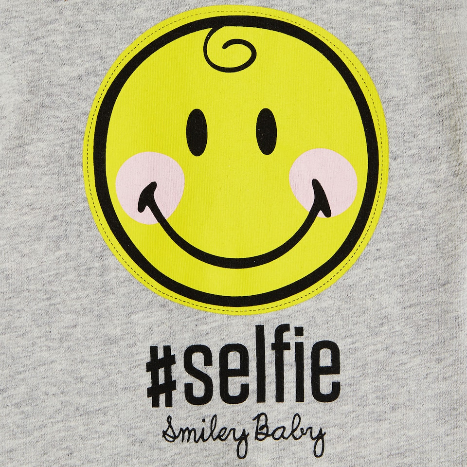 SMILEY COTTON ROMPER SUIT