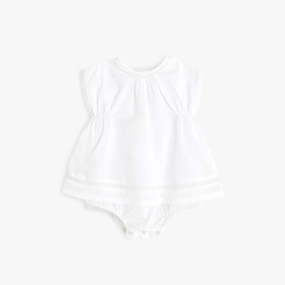 SLEEVELESS ROMPER SUIT WITH ROUND NECK
