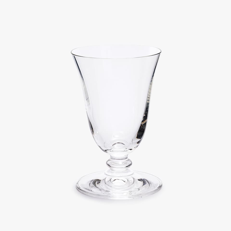 BELL-SHAPED CRYSTALLINE WINE GLASS