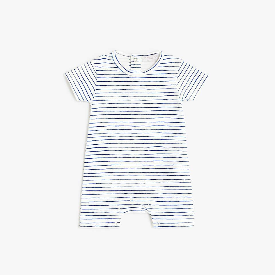 STRIPED ROMPER SUIT