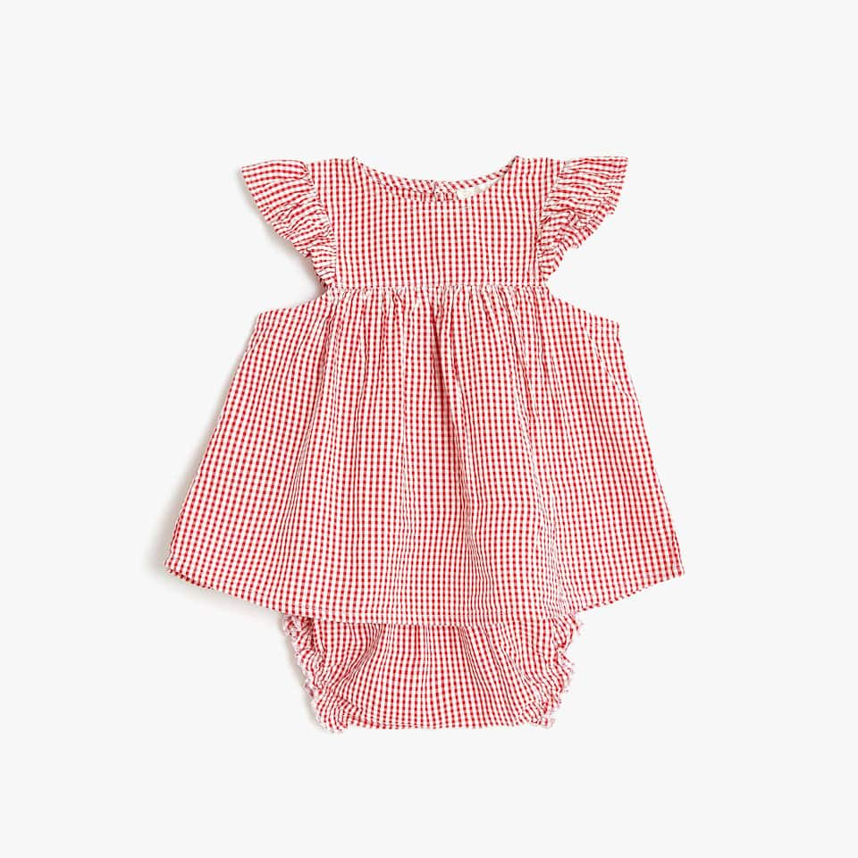 GINGHAM CHECK BABY PYJAMA SET