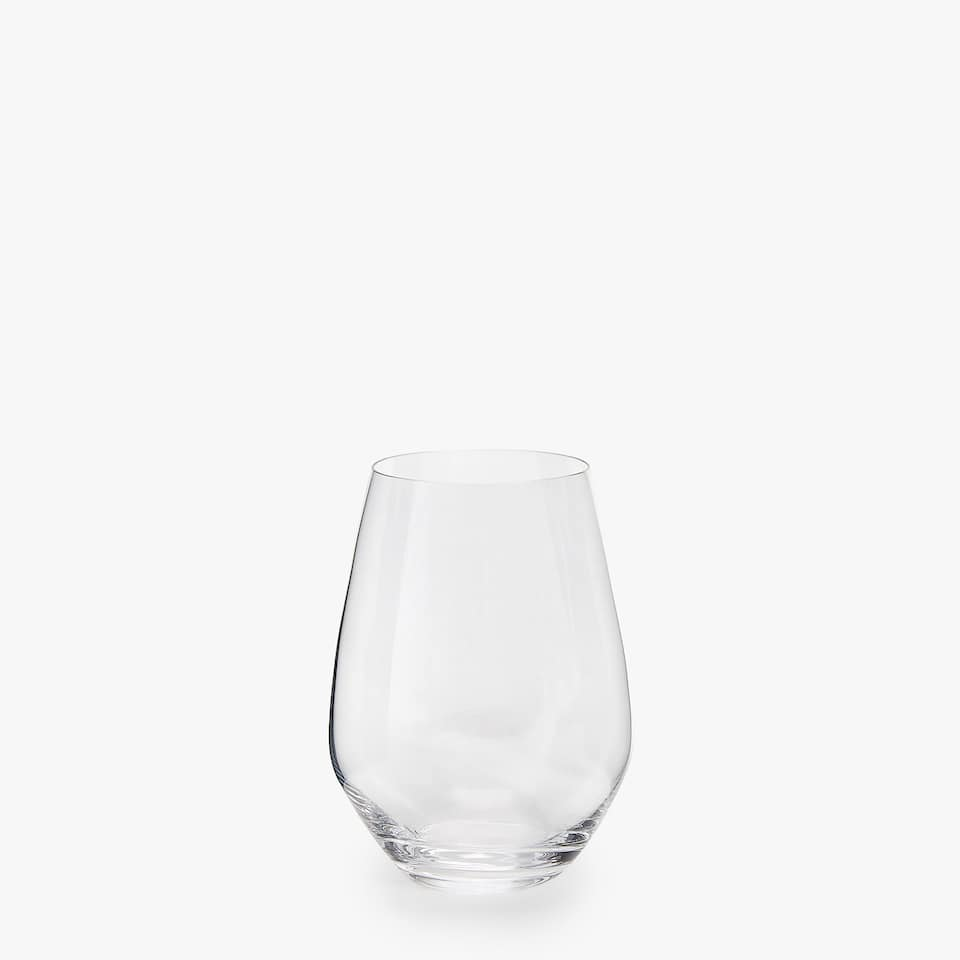 WINE GLASS WITH OVAL BASE