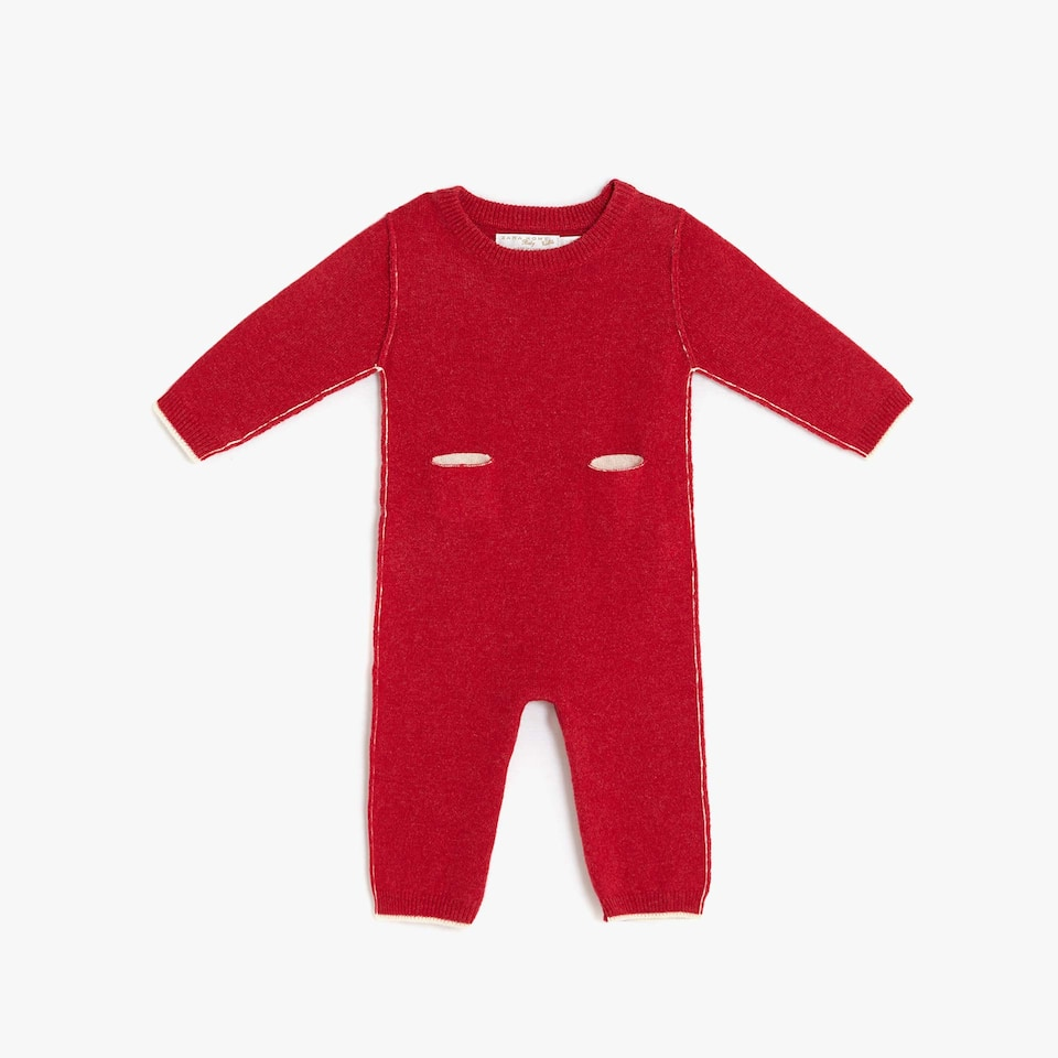 TWO-TONE CASHMERE ROMPER SUIT