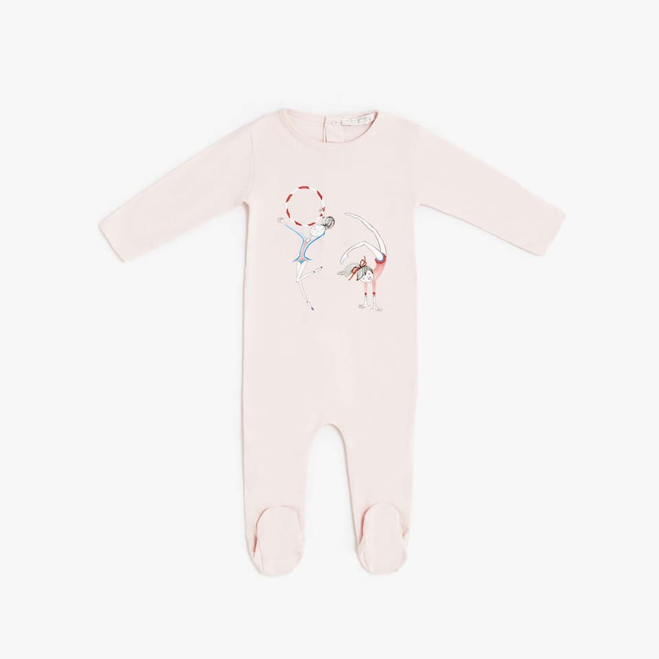 BALLERINA DESIGN COTTON ROMPER SUIT