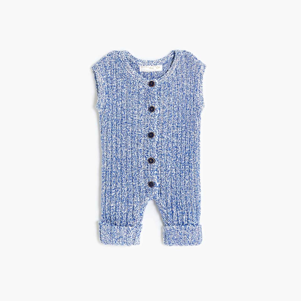 FLECKED KNIT ROMPER SUIT