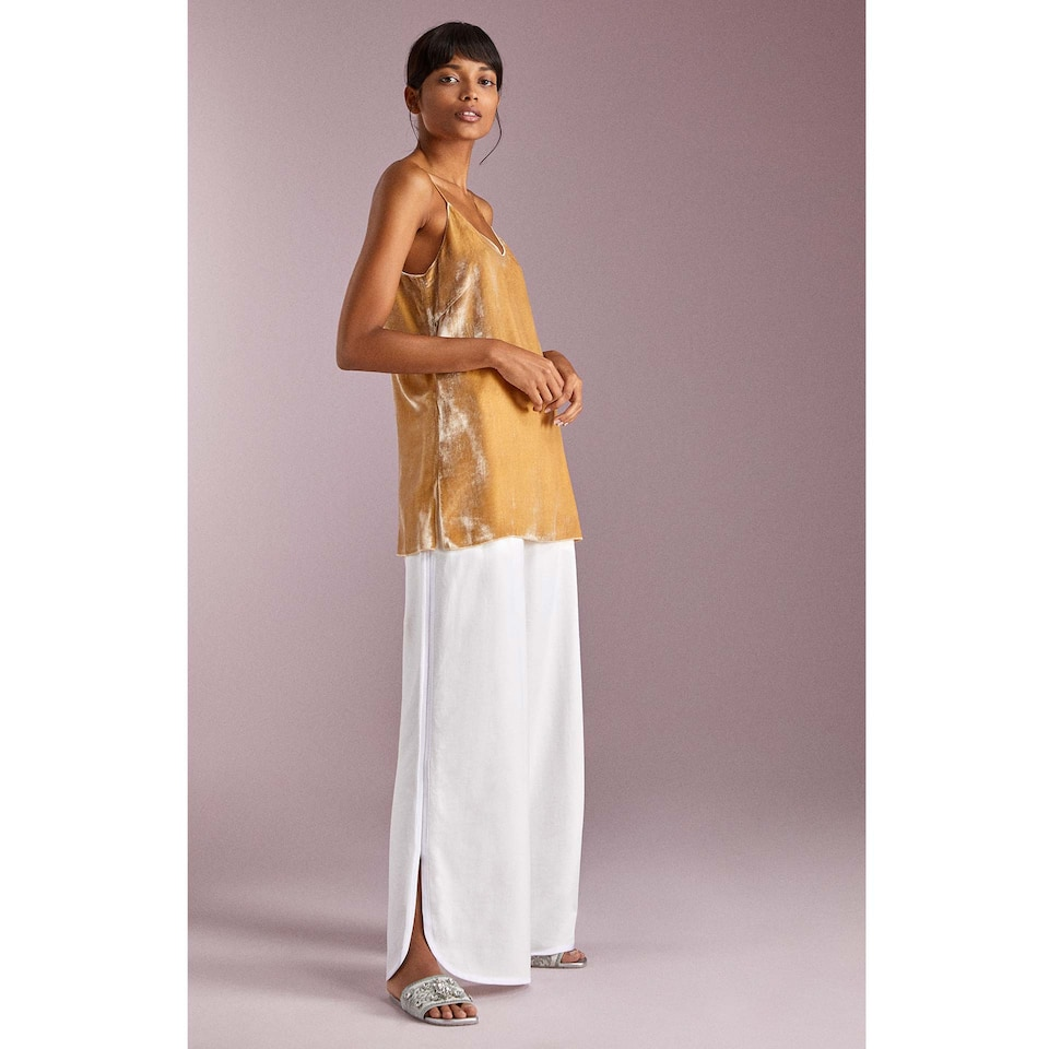 PALAZZO TROUSERS WITH SIDE VENTS