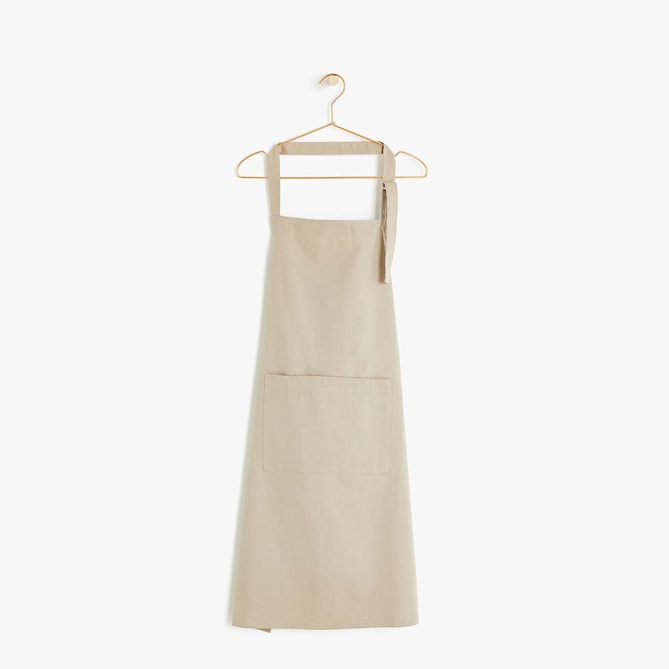 BROWN COTTON APRON