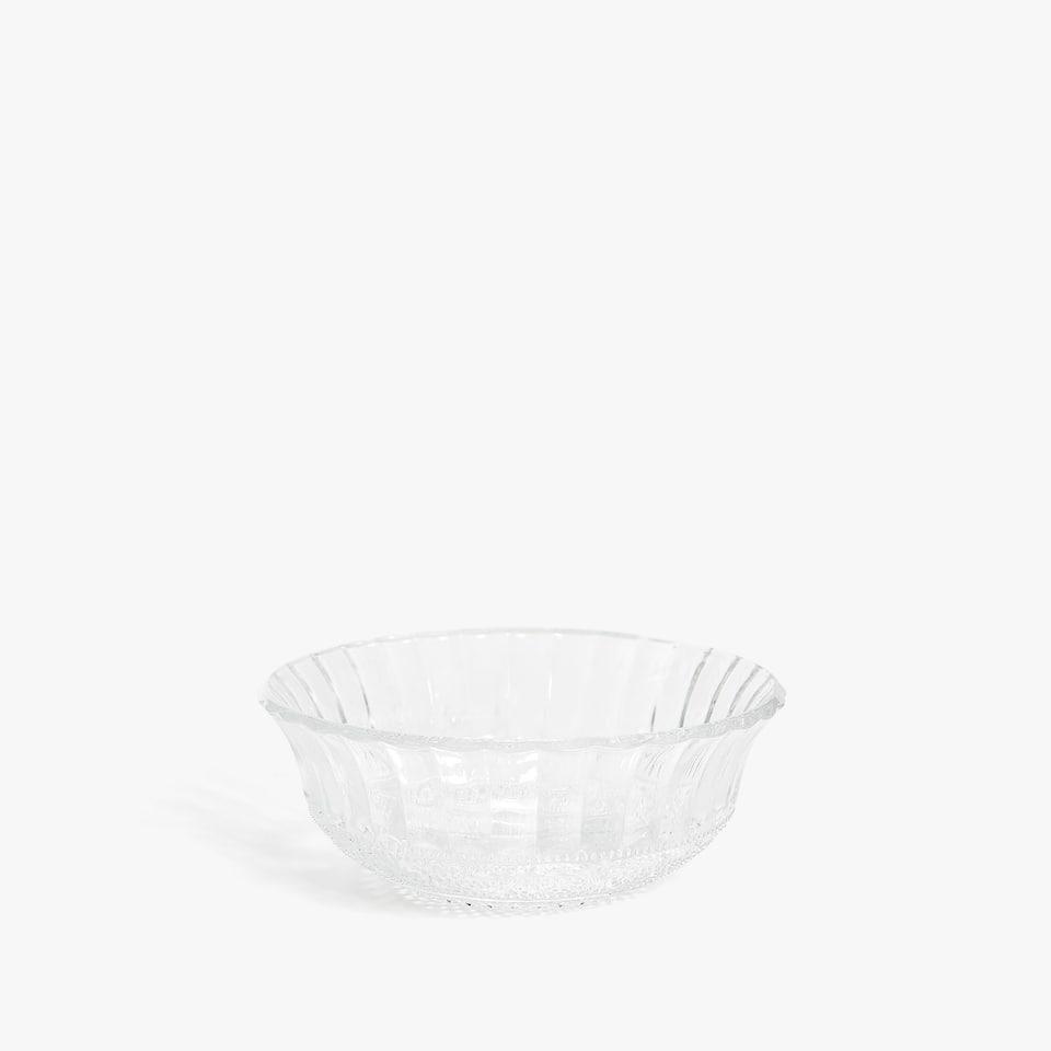 Bowl vidrio transparente