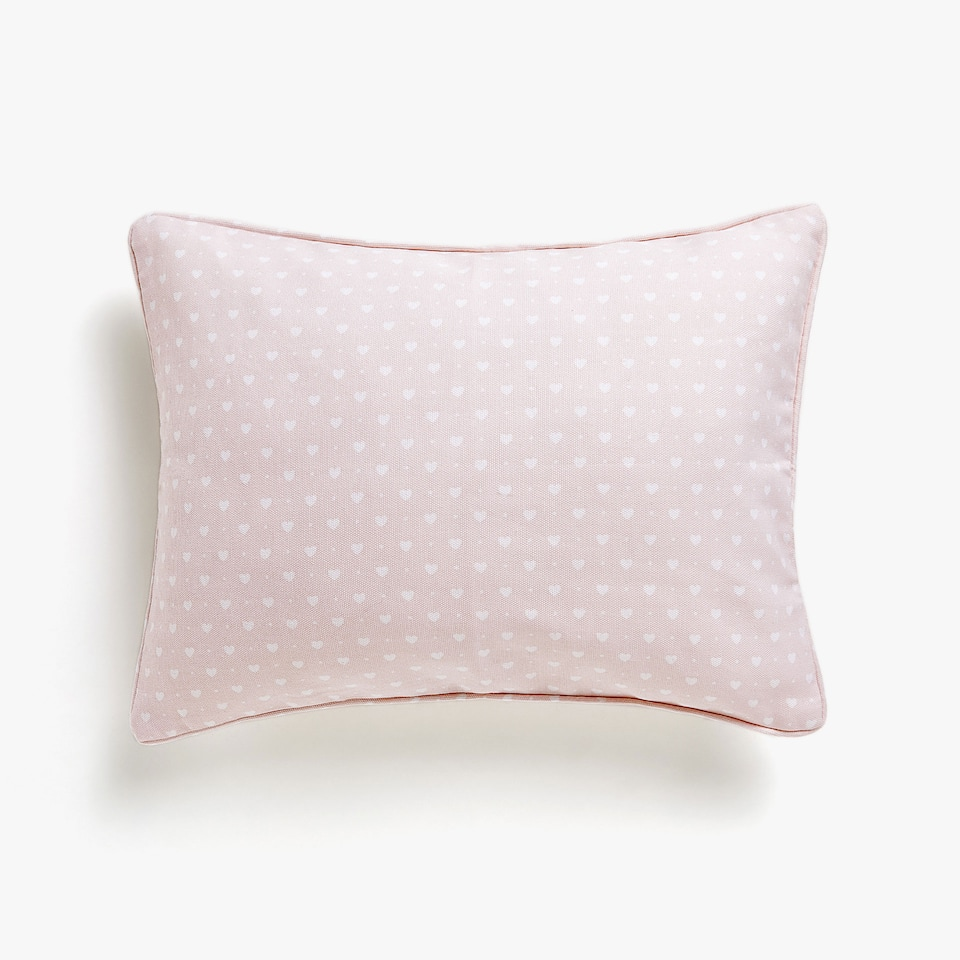 Kids cushion cover with hearts