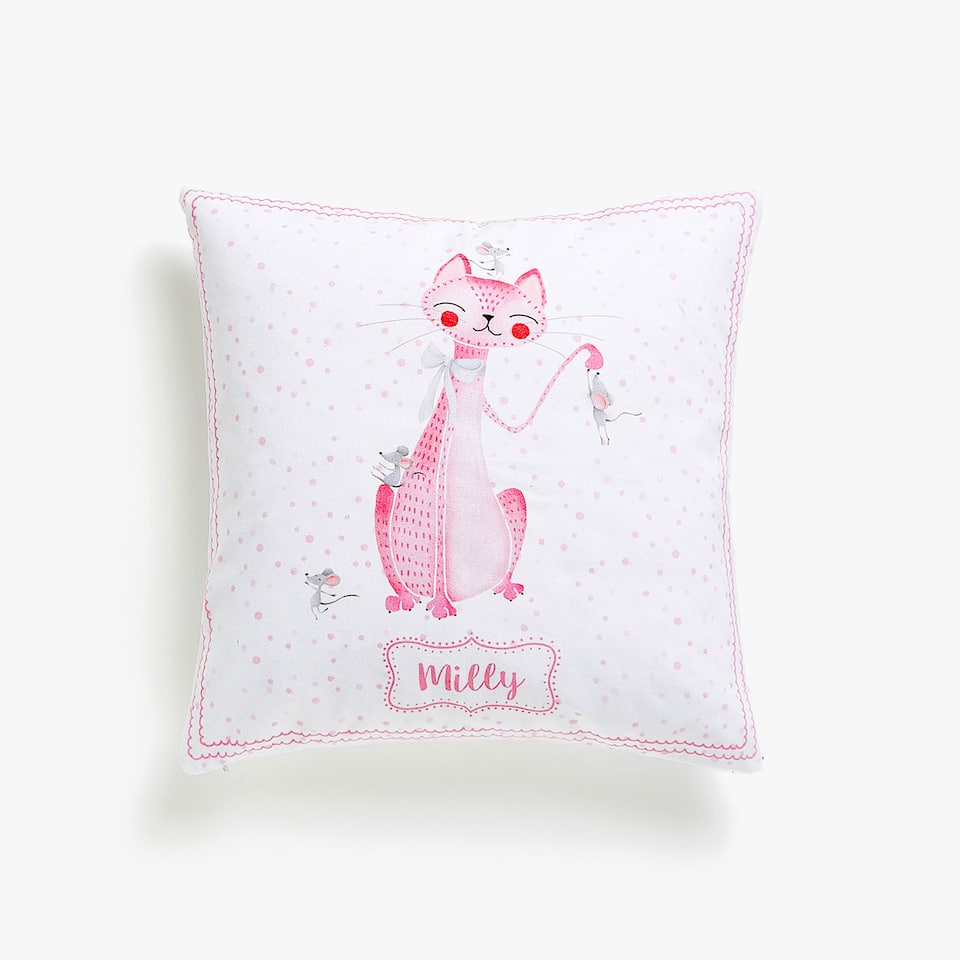Kids cat cushion cover