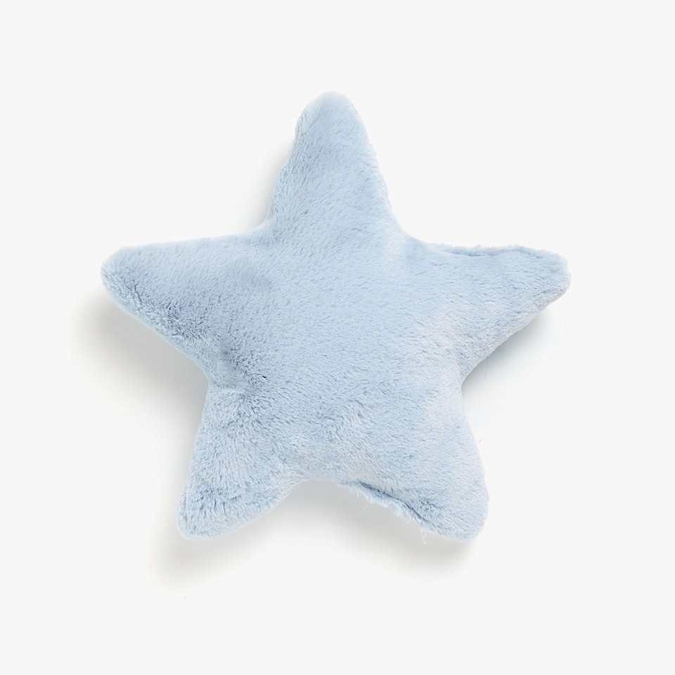 Kids star-shaped furry cushion