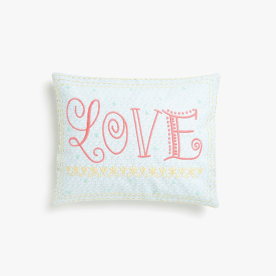 Kids embroidered and printed cushion cover