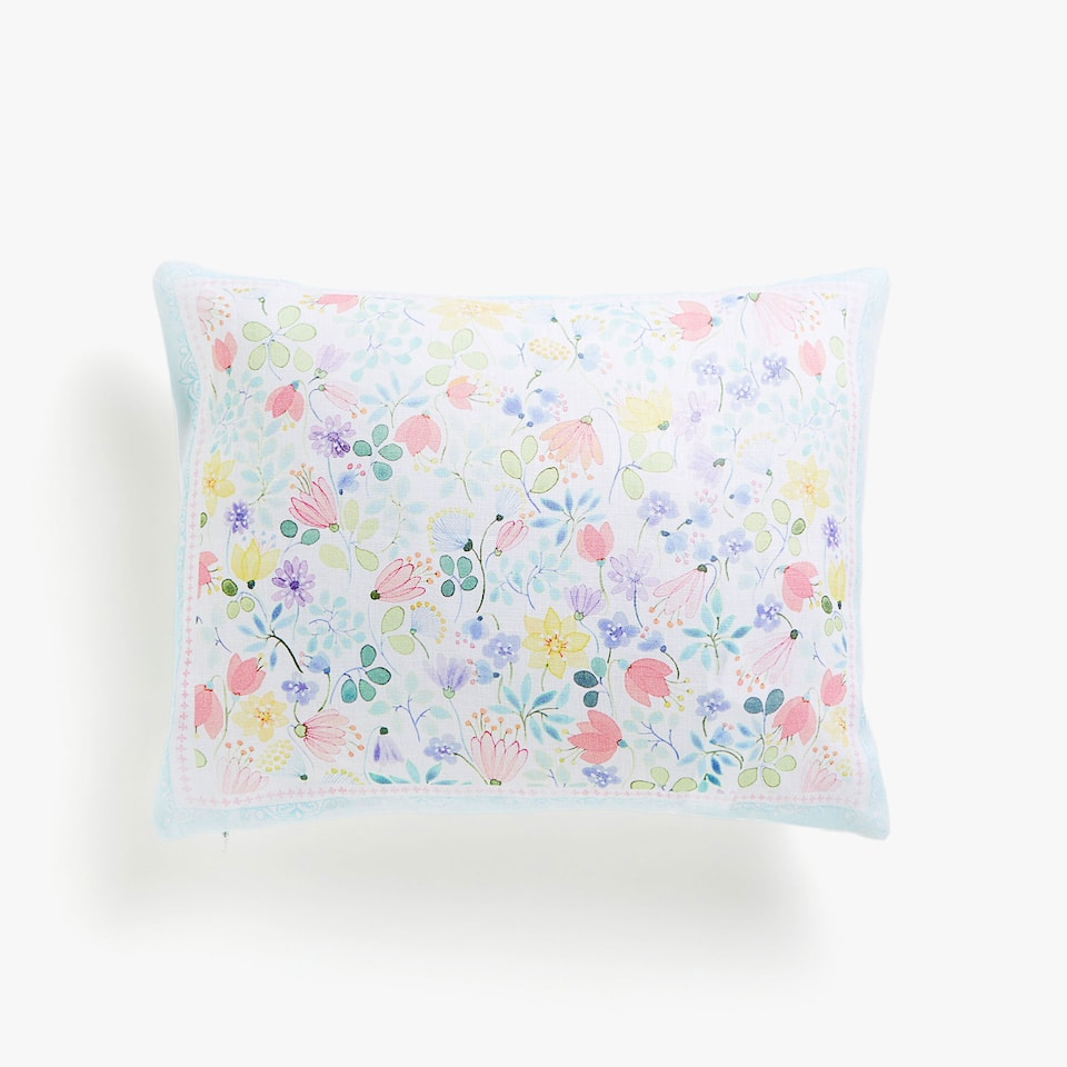 Kids floral print cushion cover