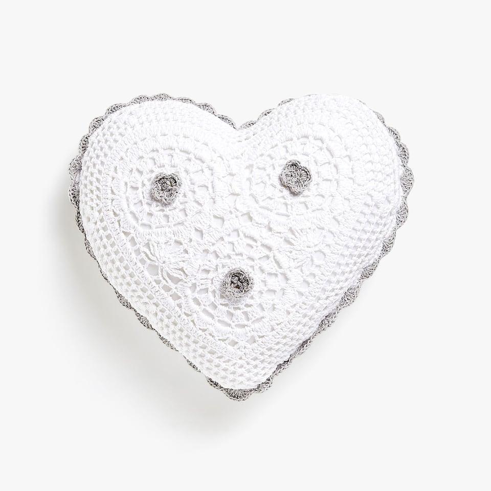 Cojín corazón crochet Kids