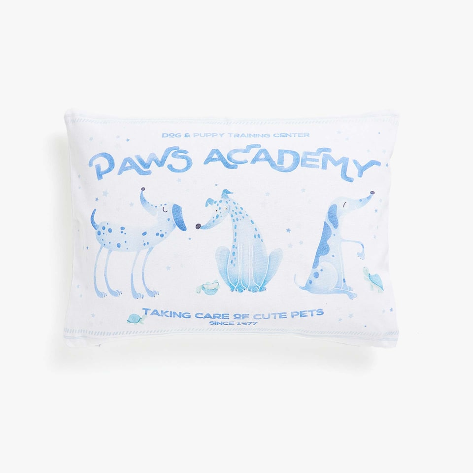 Kids puppy print cushion cover