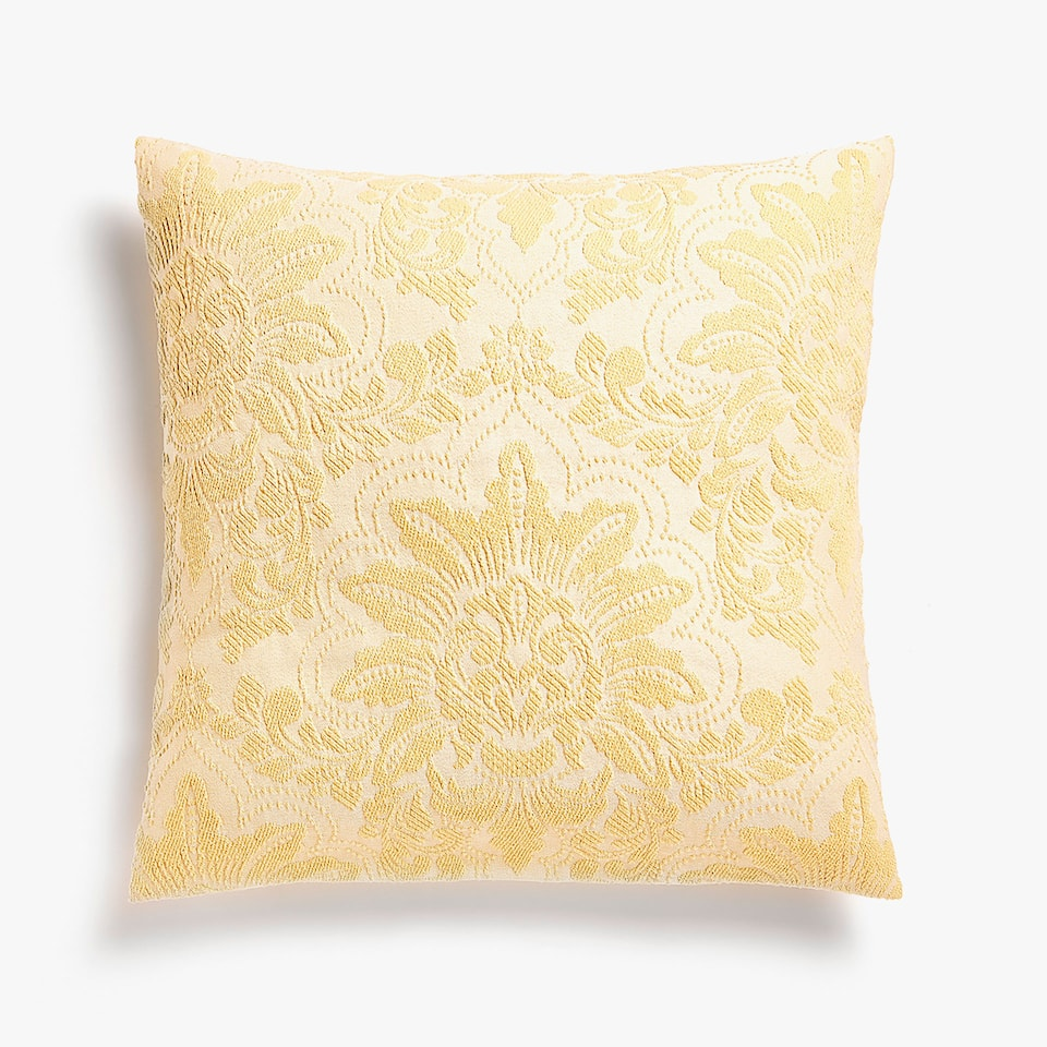 DAMASK MOTIF COTTON CUSHION COVER