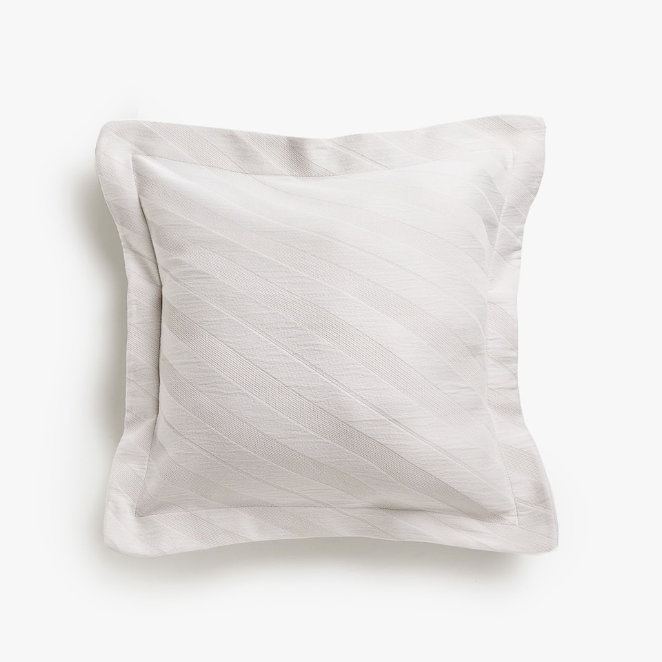 DIAGONAL STRIPES COTTON CUSHION COVER
