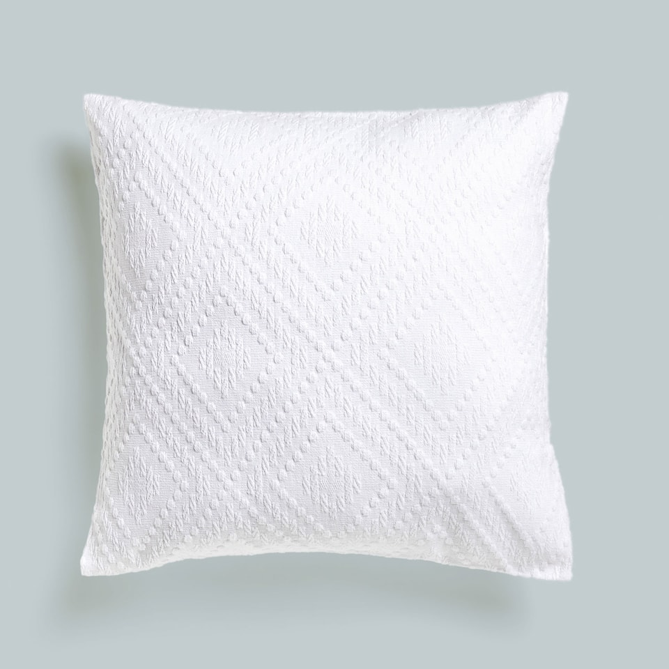 POLKA DOTS AND DIAMONDS COTTON CUSHION COVER
