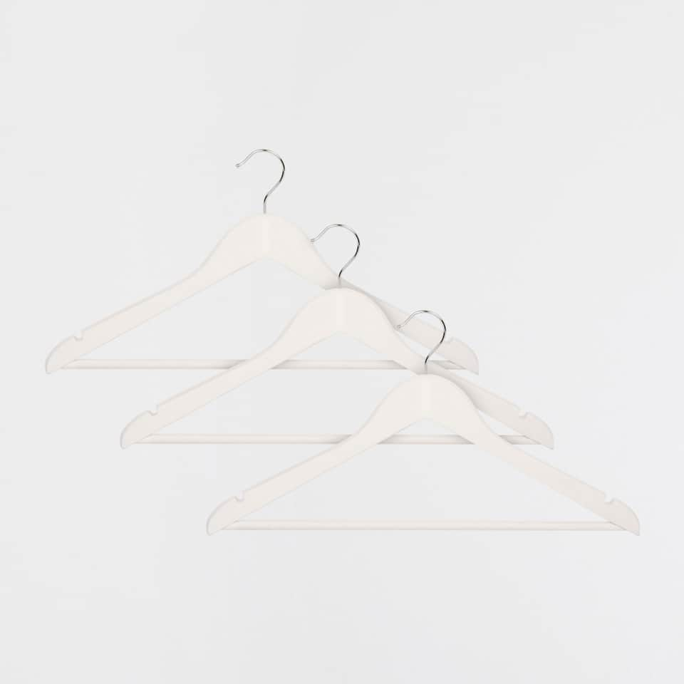 BASIC WHITE HANGER (SET OF 3)