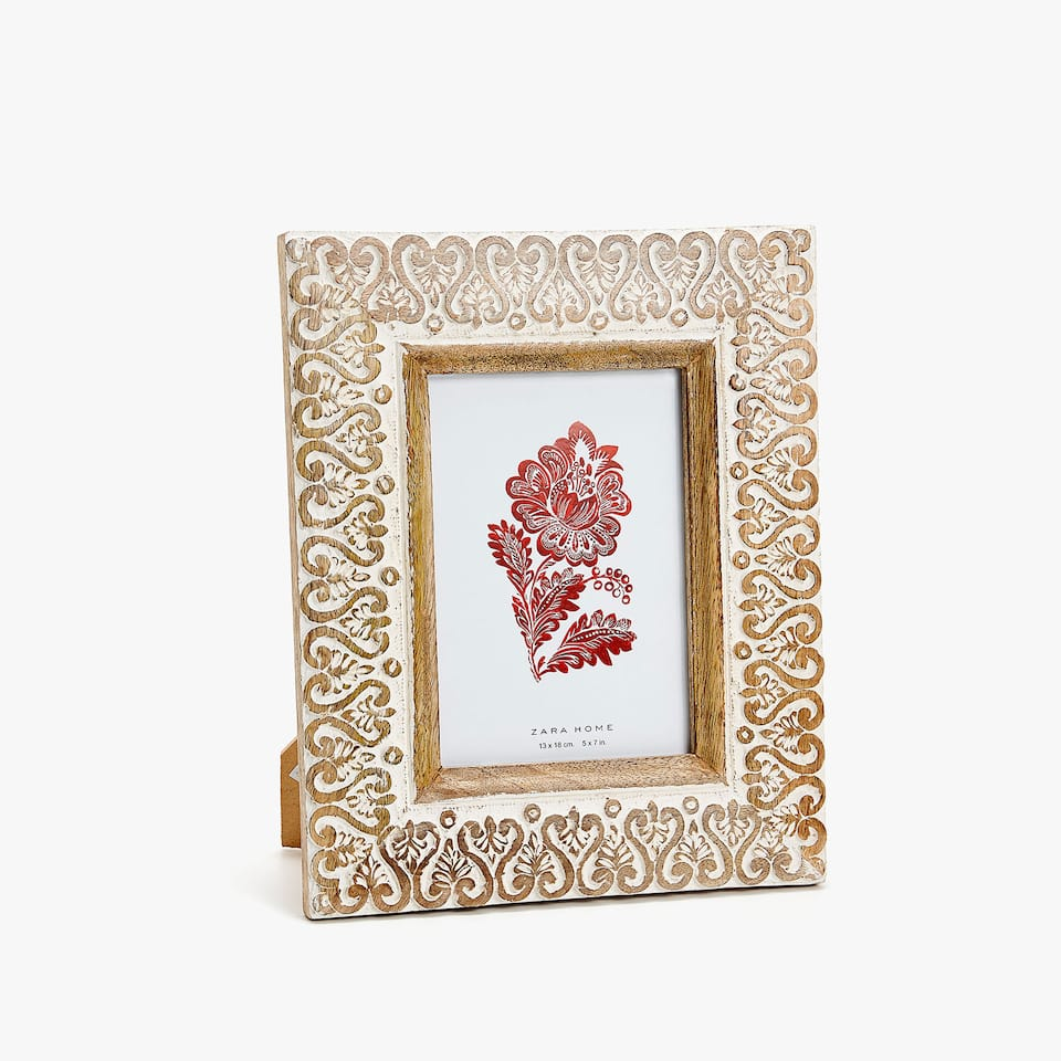 CARVED WOODEN FRAME