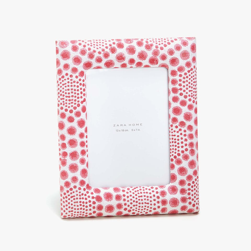 POLKA DOT FABRIC FRAME