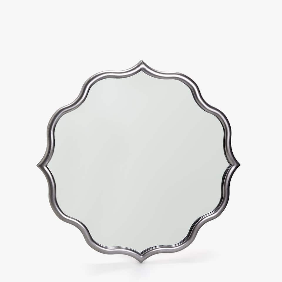 MIRROR WITH THIN SILVER FRAME