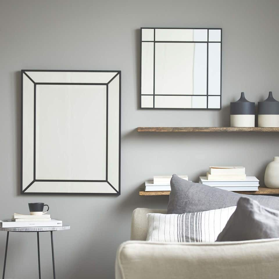 LARGE DOUBLE BORDER MIRROR