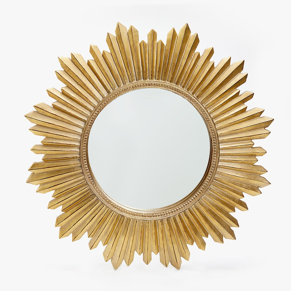 GOLDEN SUN-SHAPED MIRROR