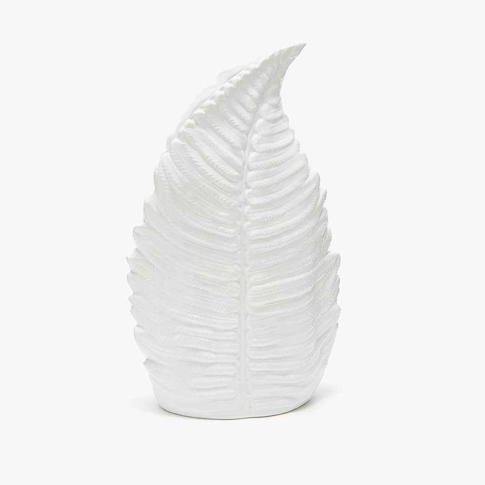 LEAF-SHAPED LARGE CERAMIC VASE