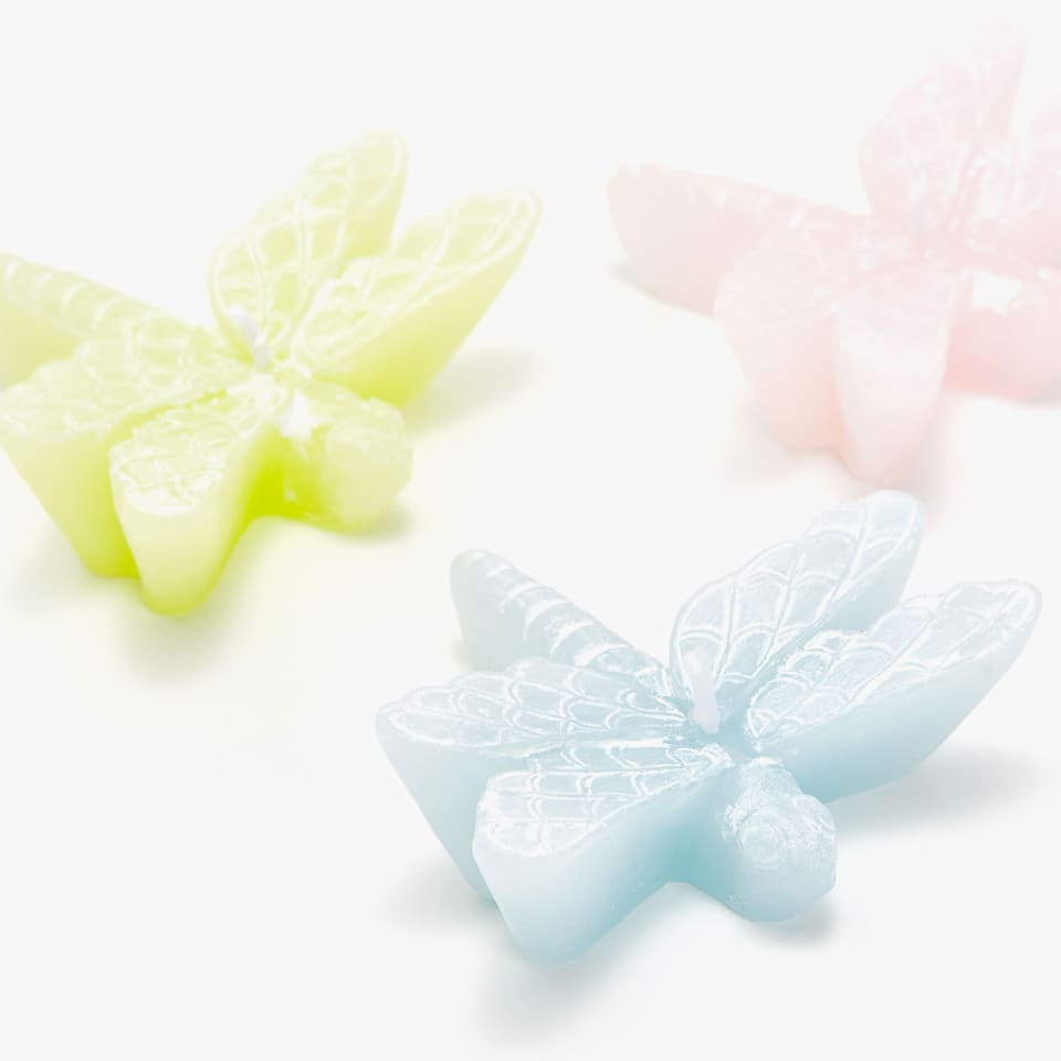 DRAGONFLY SHAPED CANDLES (SET OF 3)