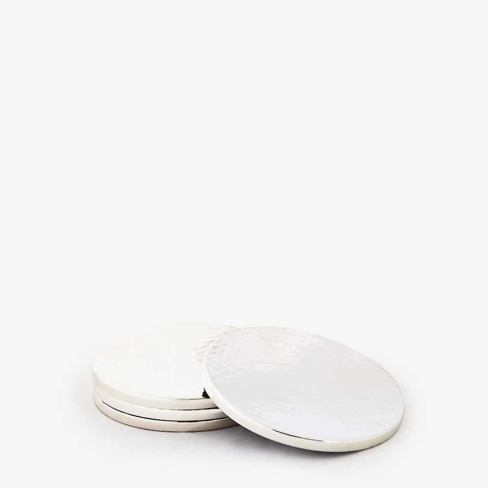 ROUND HAMMERED COASTERS (SET OF 4)