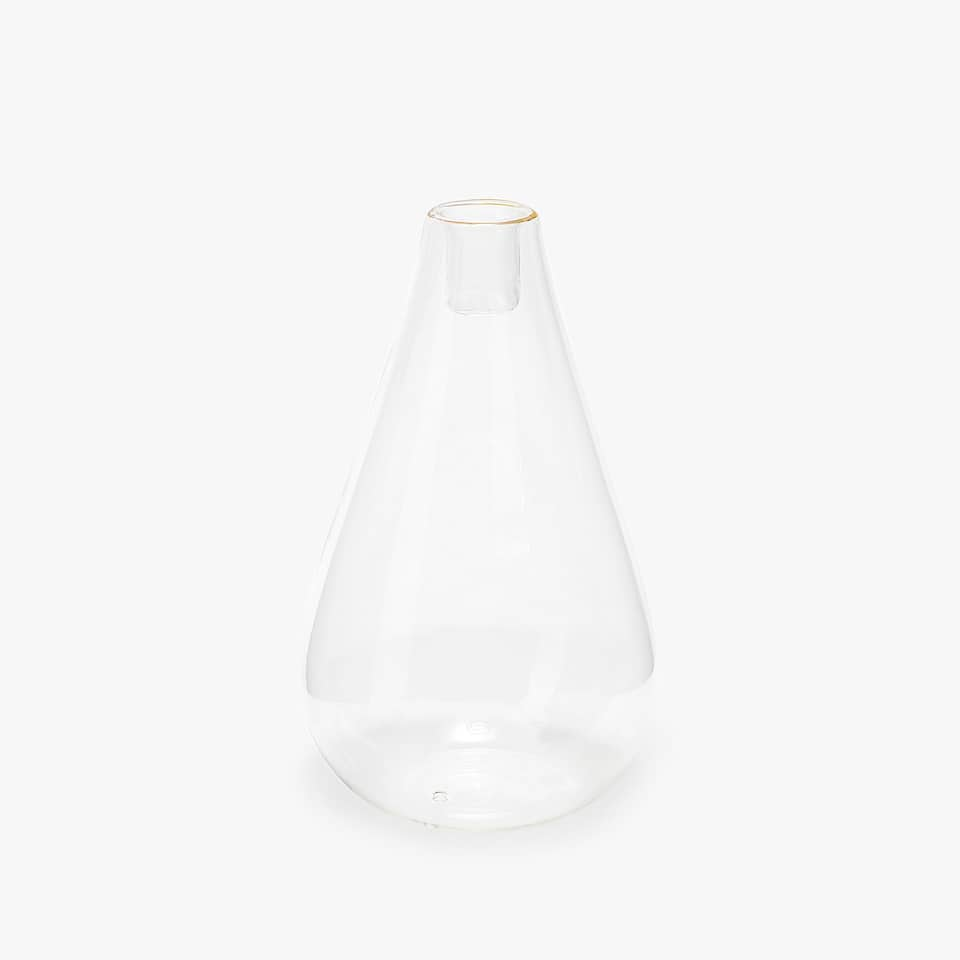 Borosilicate glass candlestick