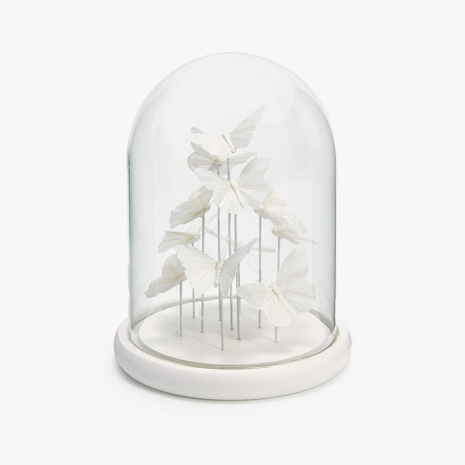 DECORATIVE BUTTERFLY BELL JAR