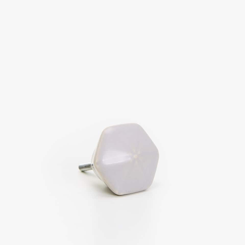 HEXAGONAL CERAMIC KNOB (SET OF 2)
