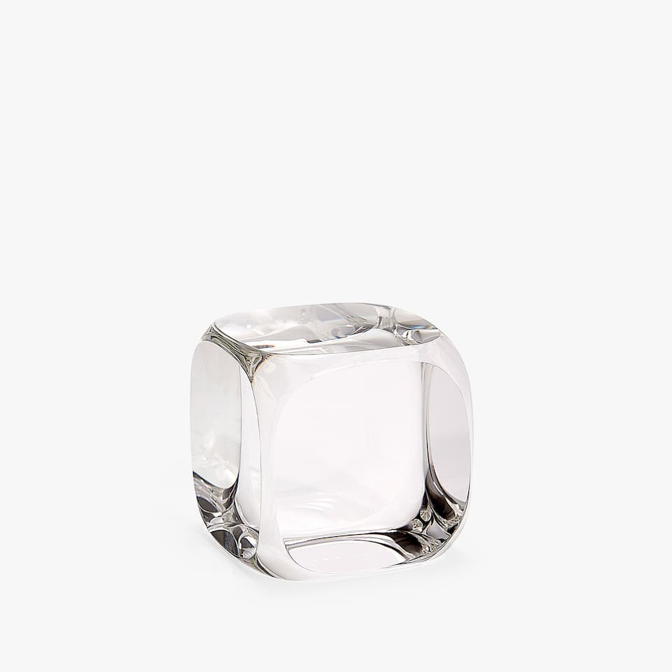 SQUARE GLASS PAPERWEIGHT