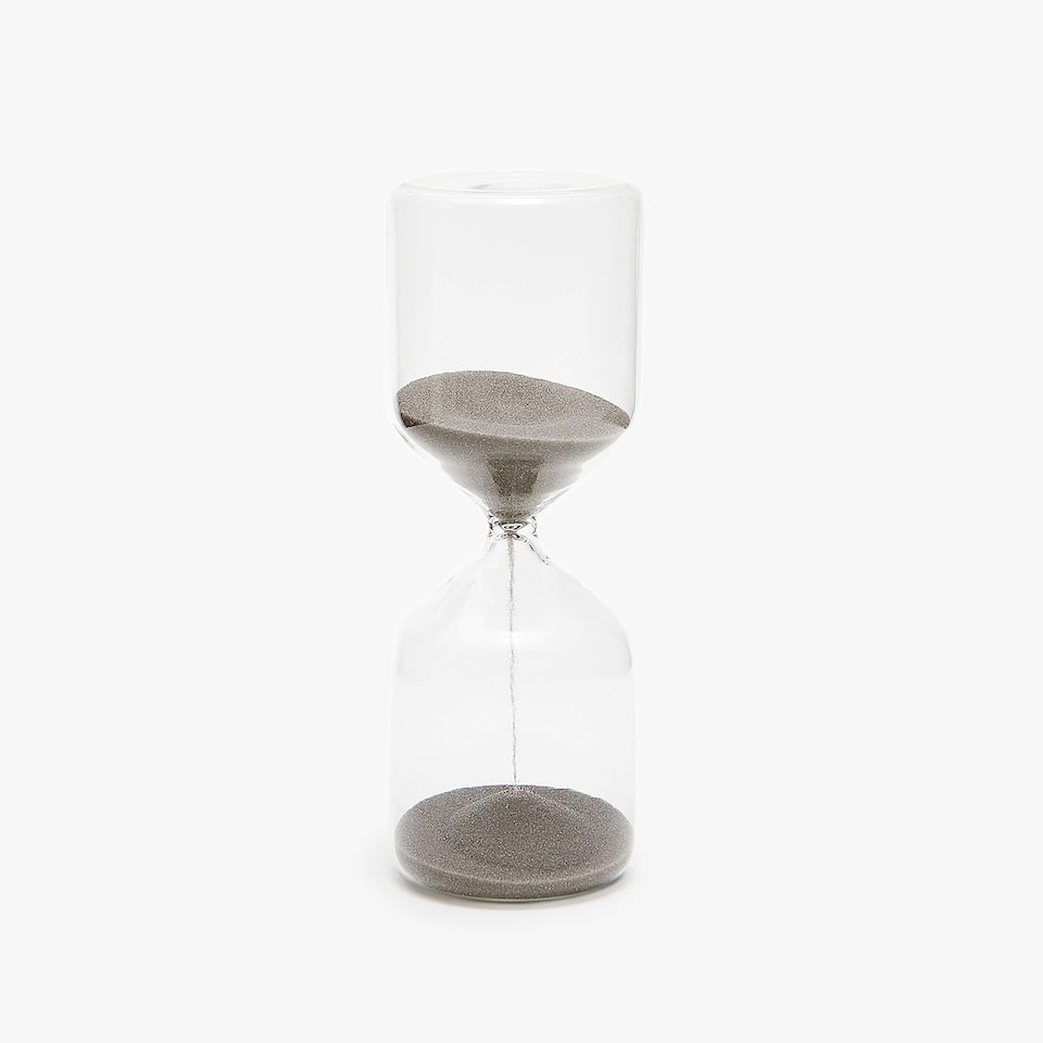 HOURGLASS WITH GREY SAND