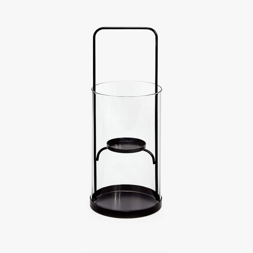 Lantern with black base