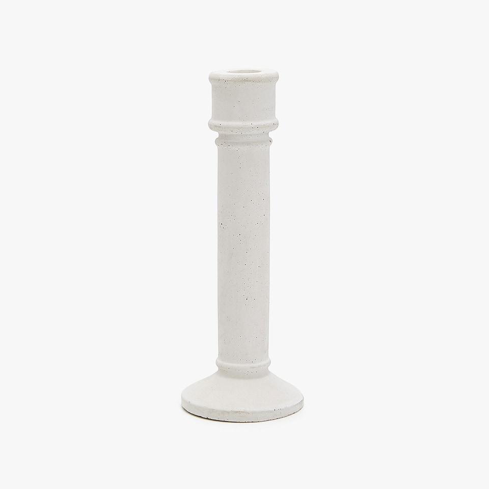 Cement candlestick