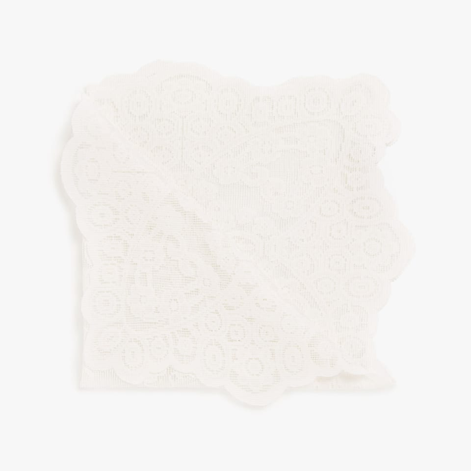 Ecru lace trim napkins (set of 4)