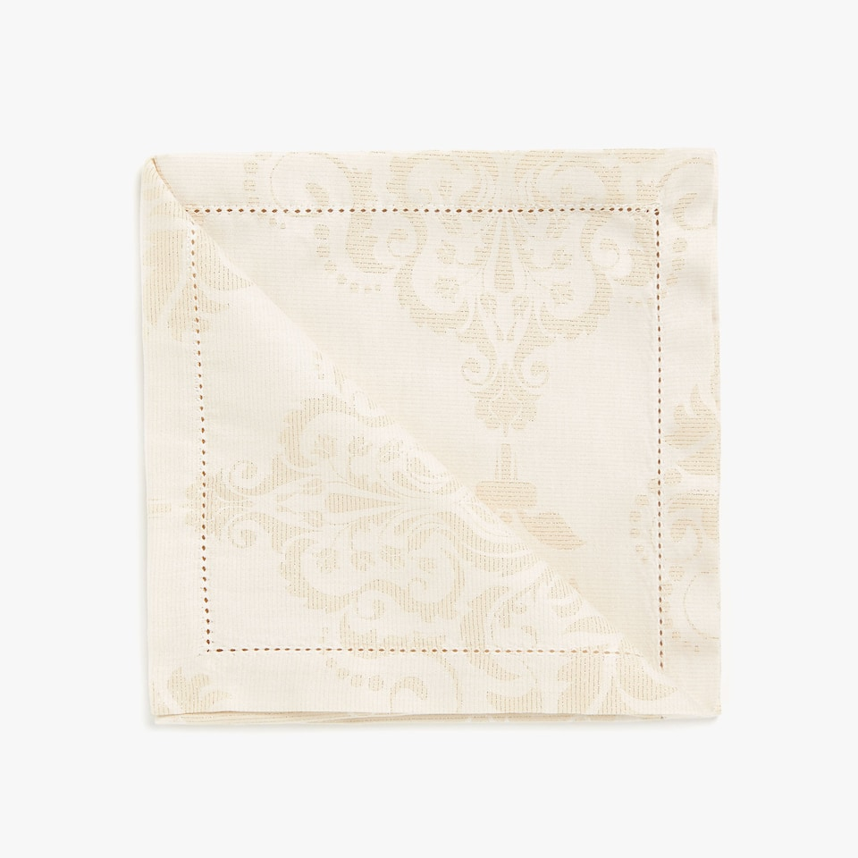 Gold jacquard cotton napkins (set of 4)