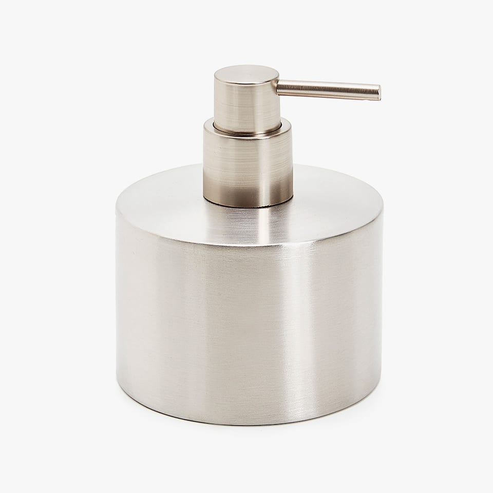 SILVER METAL DISPENSER