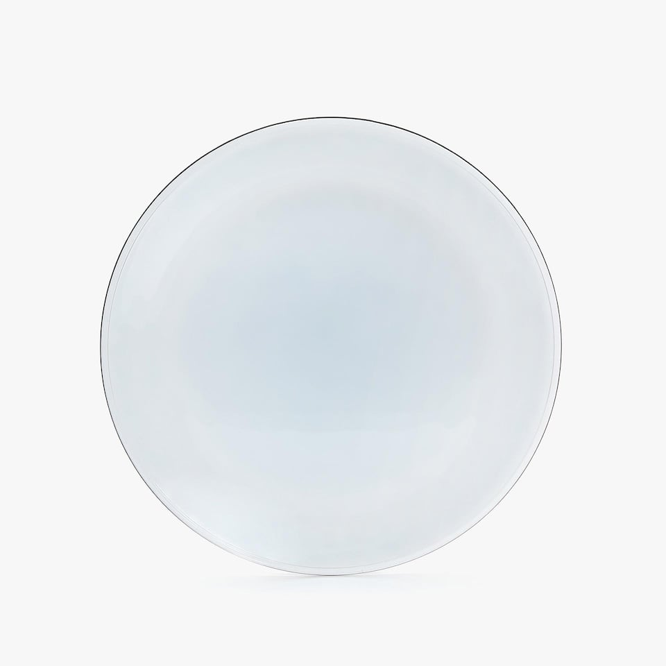 PAINTED GLASS CHARGER PLATE