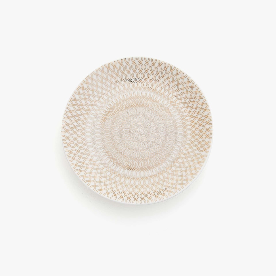 PORCELAIN BREAD PLATE WITH CONCENTRIC TRANSFER