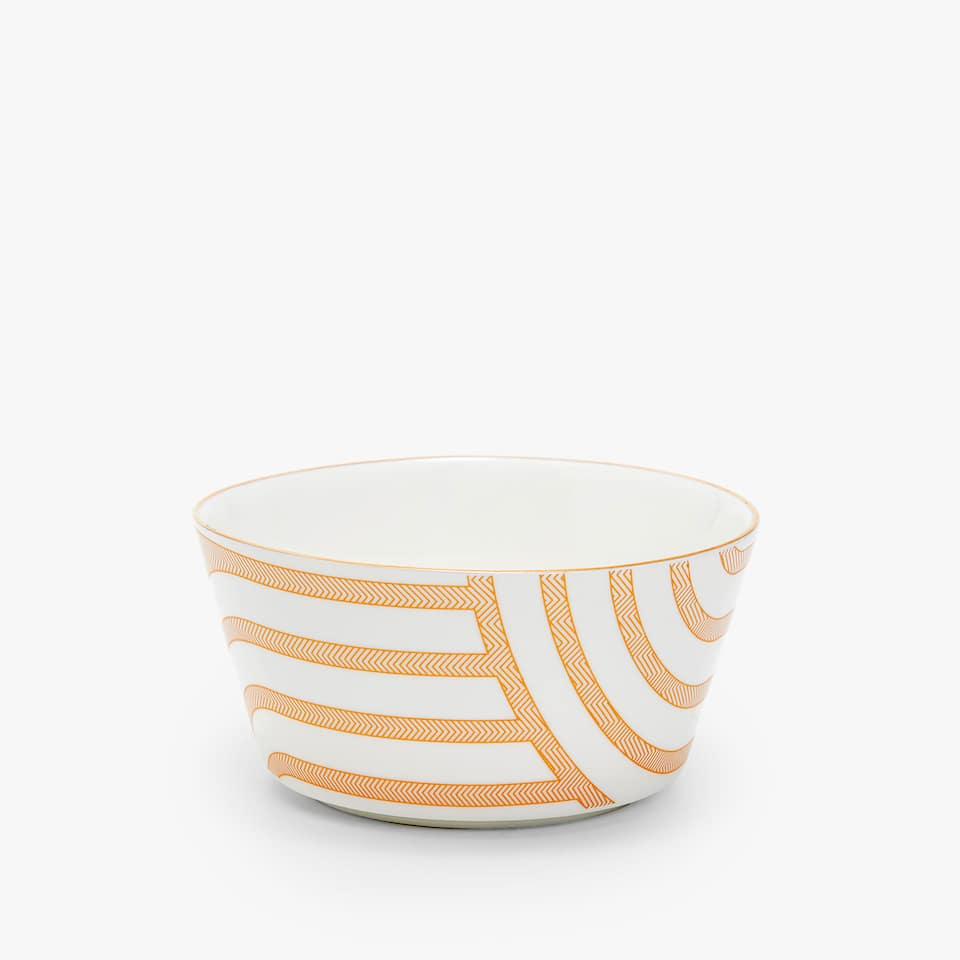 PORCELAIN BOWL WITH STRIPED TRANSFER