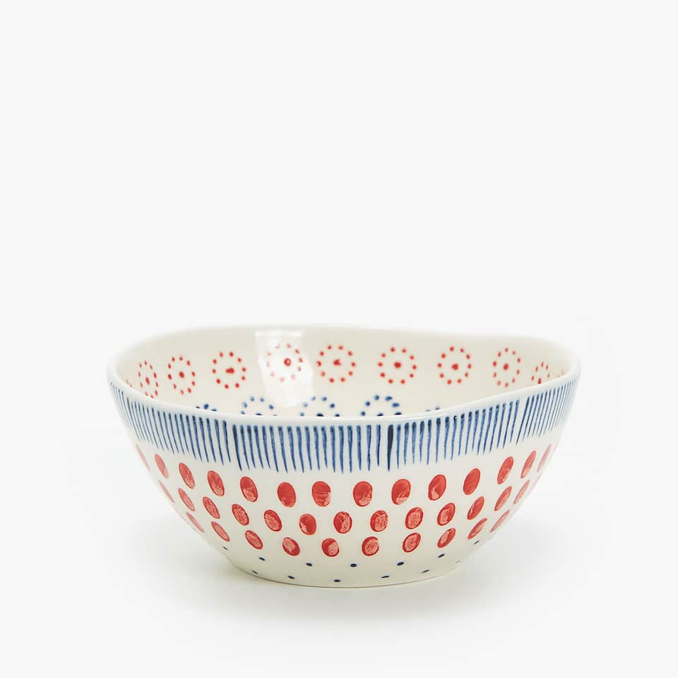 MINI BOWL GRES ESTAMPADO
