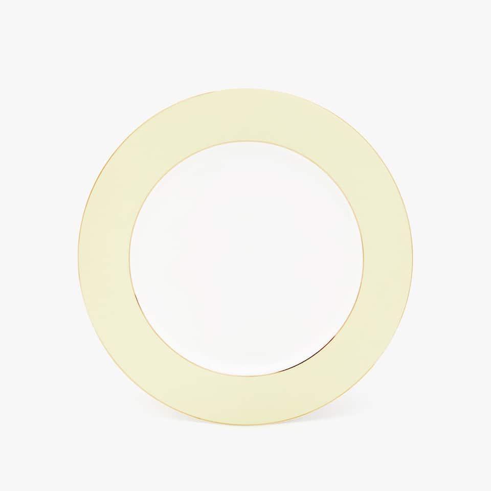 GOLD-RIMMED PORCELAIN CHARGER PLATE