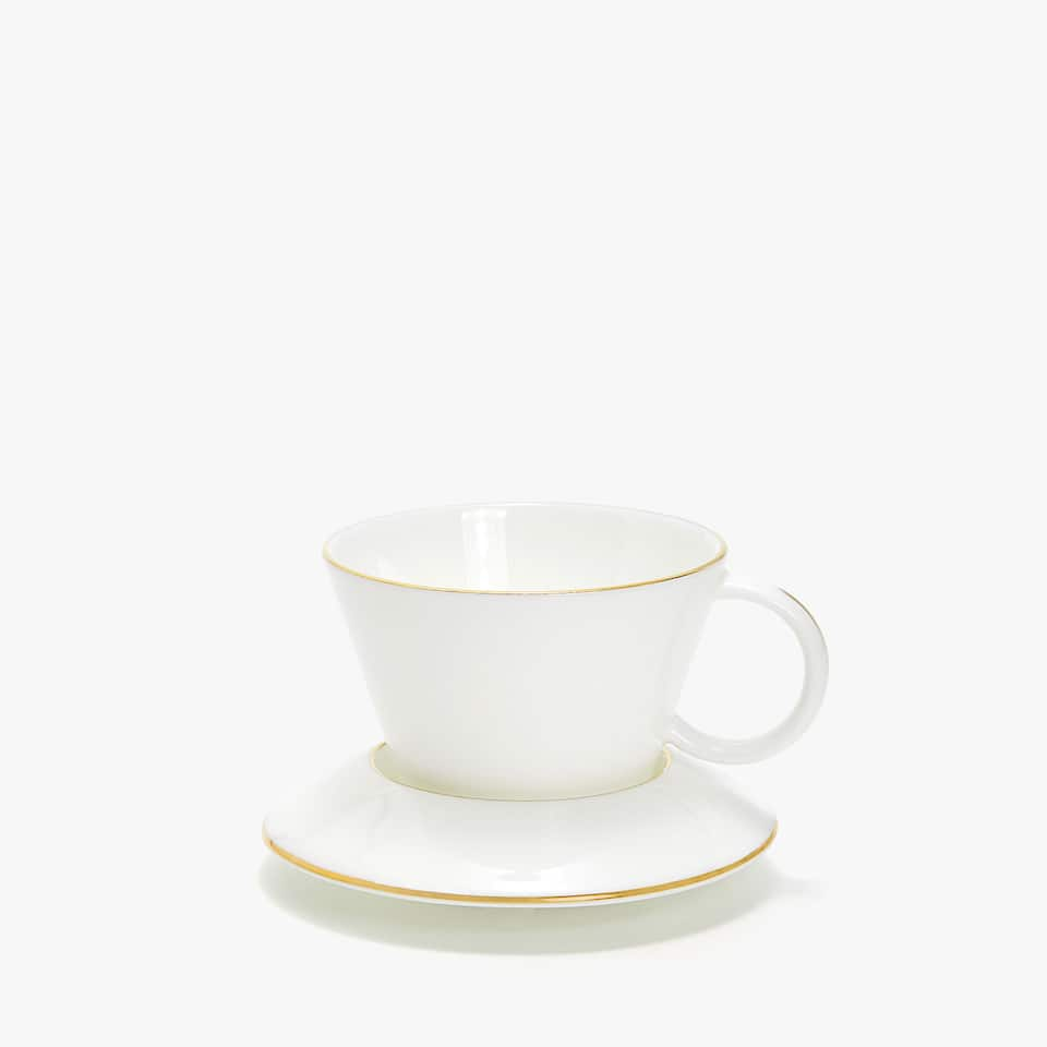 MODERNIST COFFEE CUP AND SAUCER